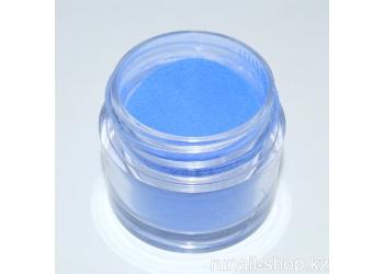 Цветная акриловая пудра (голубая, Pure Blue), 7,5 г