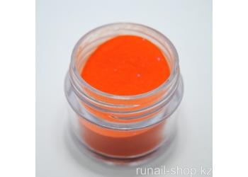 Цветная акриловая пудра (с блёстками, оранжевая, Sparkling Orange), 7,5 г