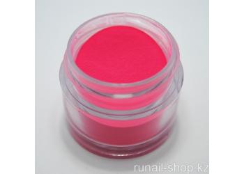 Цветная акриловая пудра (флуоресцентная, розовая, Neon Pink), 7,5 г