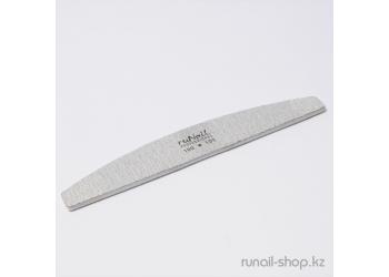 Пилка для искусственных ногтей (серая, полукруглая 100/100)