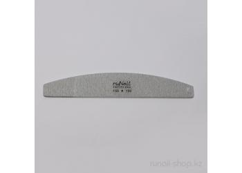 Пилка для искусственных ногтей (серая, полукруглая, 150/150)