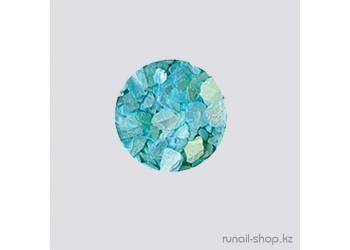 Дизайн для ногтей:  ракушки для ногтей (перламутрово-голубой)