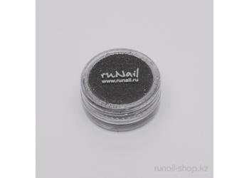 Дизайн для ногтей:  блёстки (черный)
