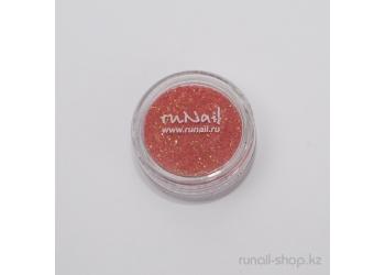 Дизайн для ногтей:  блёстки (оранжевый)