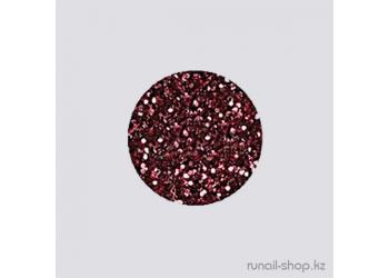 Дизайн для ногтей:  блёстки (розово-красный)