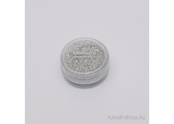 Дизайн для ногтей:  блёстки (серебряный)