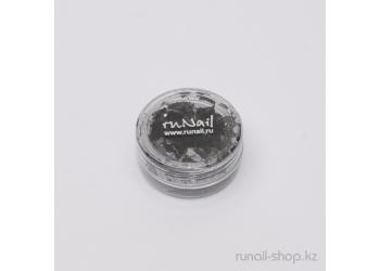 Дизайн для ногтей:  слюда для ногтей (черный)