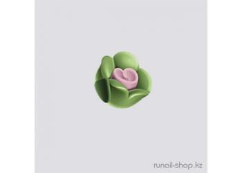 Пластиковые цветы для ногтей (чайная роза, зелёный)