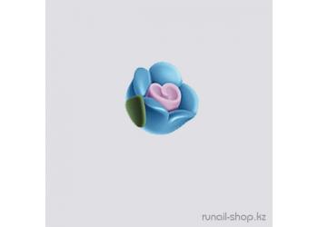 Пластиковые цветы для ногтей (чайная роза, голубой)