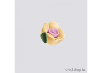 Пластиковые цветы для ногтей (чайная роза, бежевый)