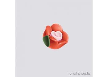 Пластиковые цветы для ногтей (чайная роза, оранжевый)