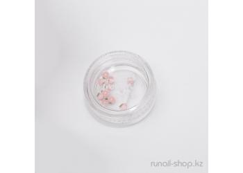 Пластиковые цветы для ногтей (чайная роза, бледно-розовый)