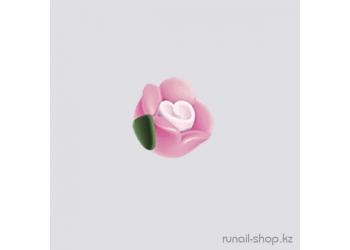 Пластиковые цветы для ногтей (чайная роза, розовый)