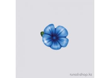 Пластиковые цветы для ногтей (вьюнок, синий)