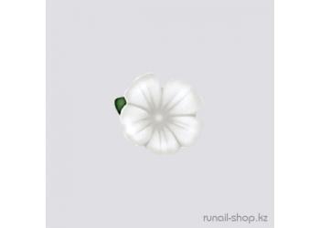 Пластиковые цветы для ногтей (вьюнок, белый)