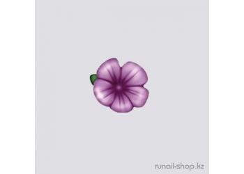 Пластиковые цветы для ногтей (вьюнок, фиолетовый)