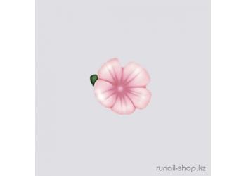 Пластиковые цветы для ногтей (вьюнок, бледно-розовый)