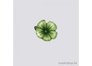 Пластиковые цветы для ногтей (вьюнок, темно-зеленый)