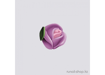 Пластиковые цветы для ногтей (голландская роза, нежно-сиреневый)