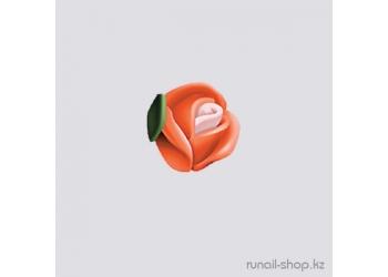 Пластиковые цветы для ногтей (голландская роза, ярко-оранжевый)