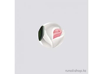 Пластиковые цветы для ногтей (голландская роза, белый)