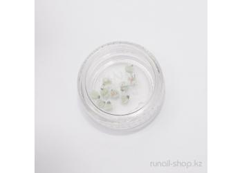 Пластиковые цветы для ногтей (голландская роза, нежно-зеленый)