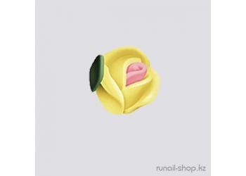 Пластиковые цветы для ногтей (голландская роза, ярко-желтый)