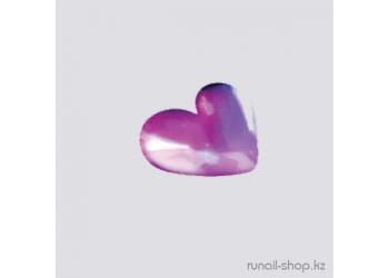 Дизайн для ногтей: сердечки из ткани для ногтей (пурпурный)
