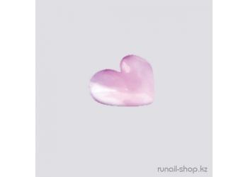 Дизайн для ногтей: сердечки из ткани для ногтей (белый)
