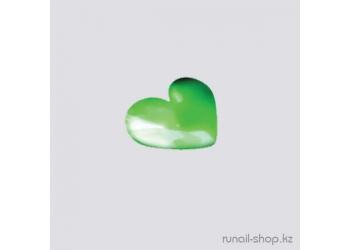 Дизайн для ногтей: сердечки из ткани для ногтей (зеленый)