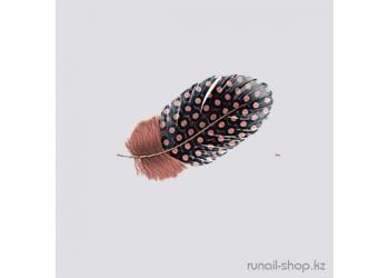 Перья для наращивания ногтей (коричневый)