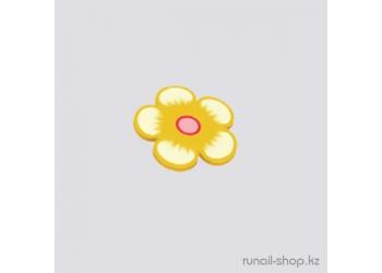 Резиновые аппликации для ногтей (цветы, желто-оранжевый)