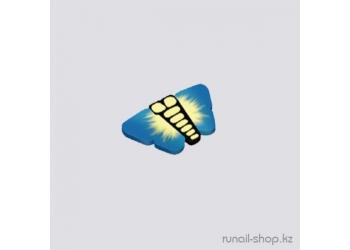 Резиновые аппликации для ногтей (бабочки, синий)