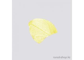 Сухие листья для дизайна ногтей (ярко-желтый)