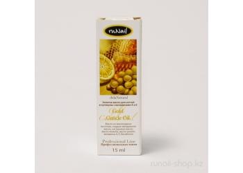 Золотое масло для ногтей и кутикулы с витаминами А и Е, 15 мл