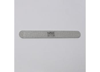 Пилка для искусственных ногтей (серая, закруглённая, 180/200)