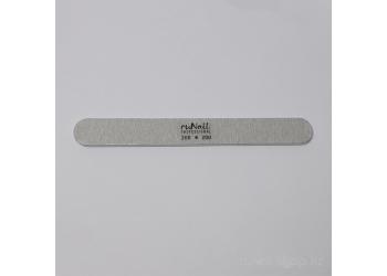 Пилка для искусственных ногтей (серая, закруглённая, 200/200)