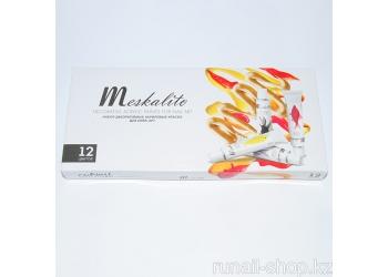 Набор декоративных акриловых красок для нейл арта «Meskalito» (12 цв. по 12мл)