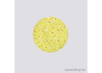 Дизайн для ногтей:  блёстки (желтый)