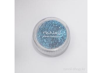 Дизайн для ногтей:  блёстки (синий металлик)
