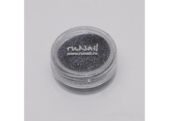 Дизайн для ногтей:  блёстки (цвет графита)