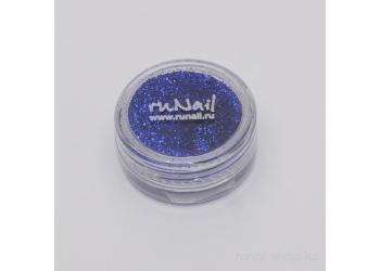 Дизайн для ногтей:  блёстки (темно-синий)