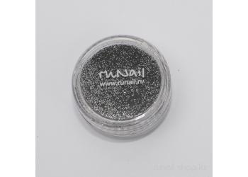 Дизайн для ногтей:  блёстки (темно-серый)