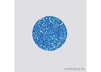 Дизайн для ногтей:  блёстки (синий)