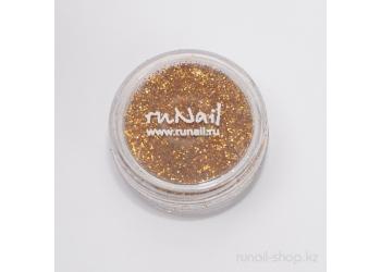 Дизайн для ногтей:  блёстки (золотой песок)