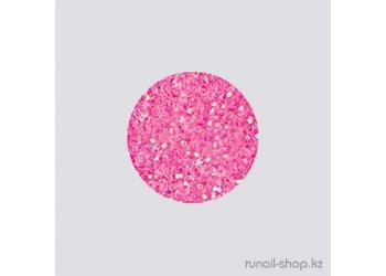 Дизайн для ногтей:  блёстки (неоново-розовый)