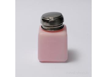 Помпа для жидкости (непрозрачный пластик, с металлической крышкой, розовая)