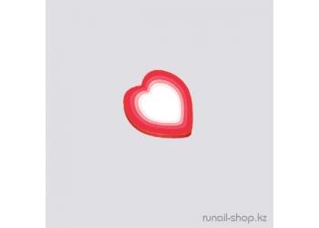 Резиновые аппликации для ногтей (сердечки, красный)