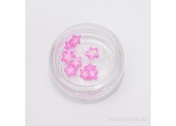 Резиновые аппликации для ногтей  (звездочки, розовый)