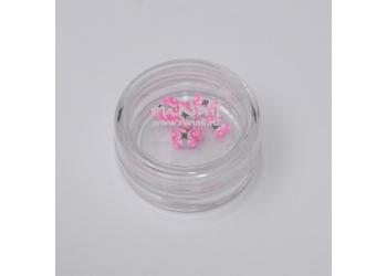 Резиновые аппликации для ногтей (большие бабочки, розовый)